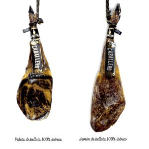 paleta ibérica y jamón ibérico